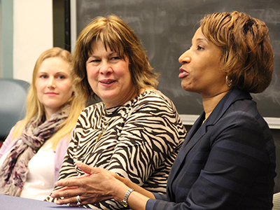 Alumni panelists talk about professional experiences in public health